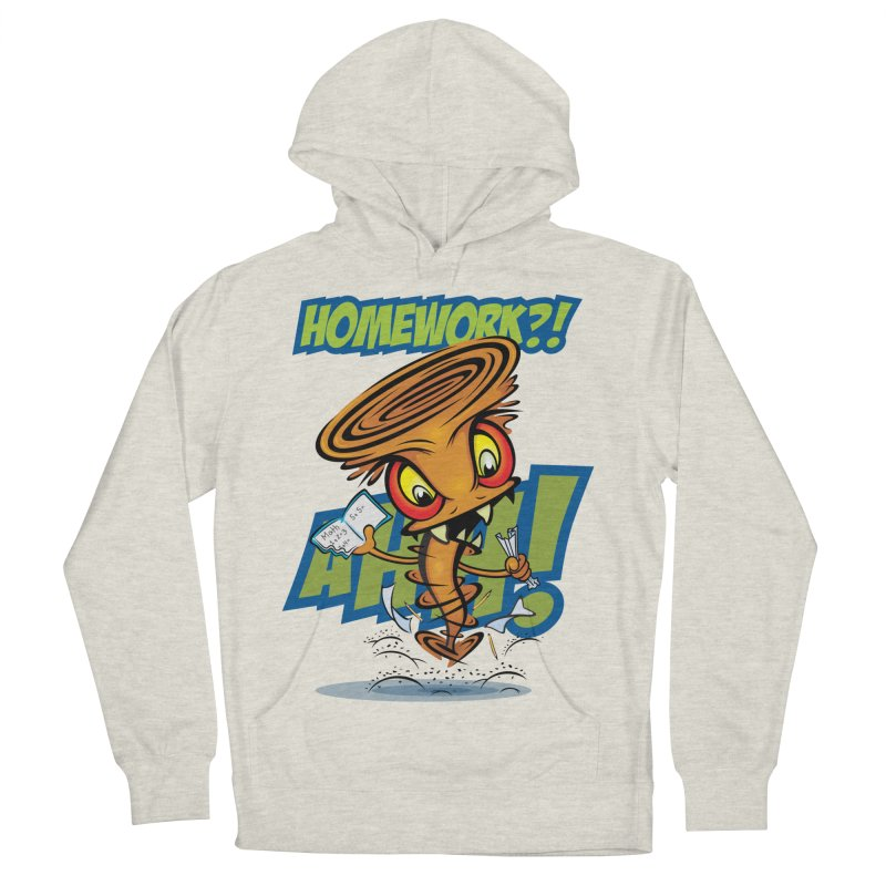 Homework Twister Men's Pullover Hoody by Samalou - The Art and Illustrations of Lou Simeone