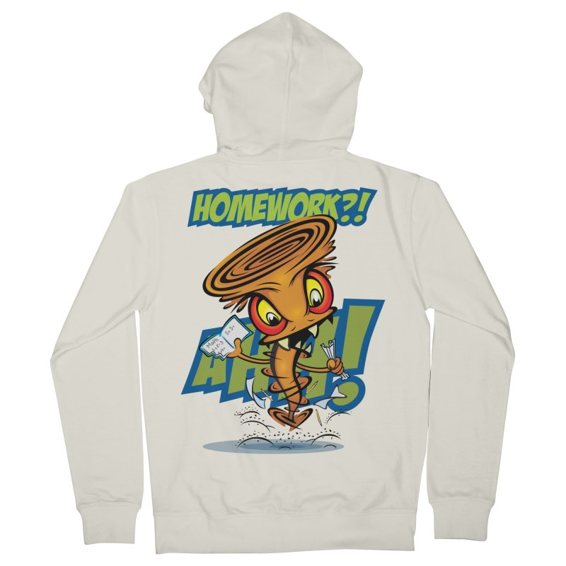 Homework Twister Women's French Terry Zip-Up Hoody by Lou Simeone Art