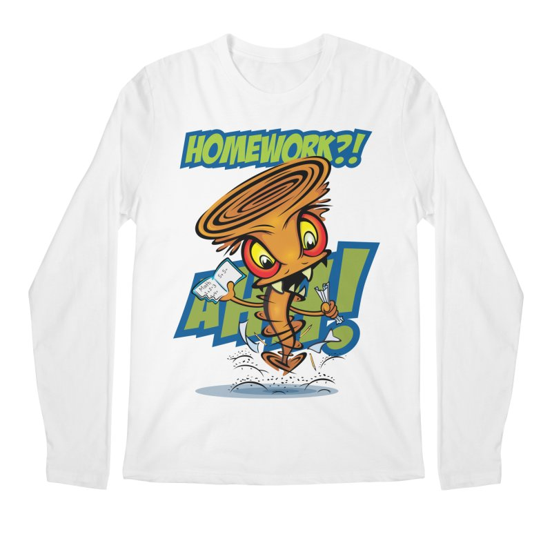 Homework Twister Men's Longsleeve T-Shirt by Samalou - The Art and Illustrations of Lou Simeone