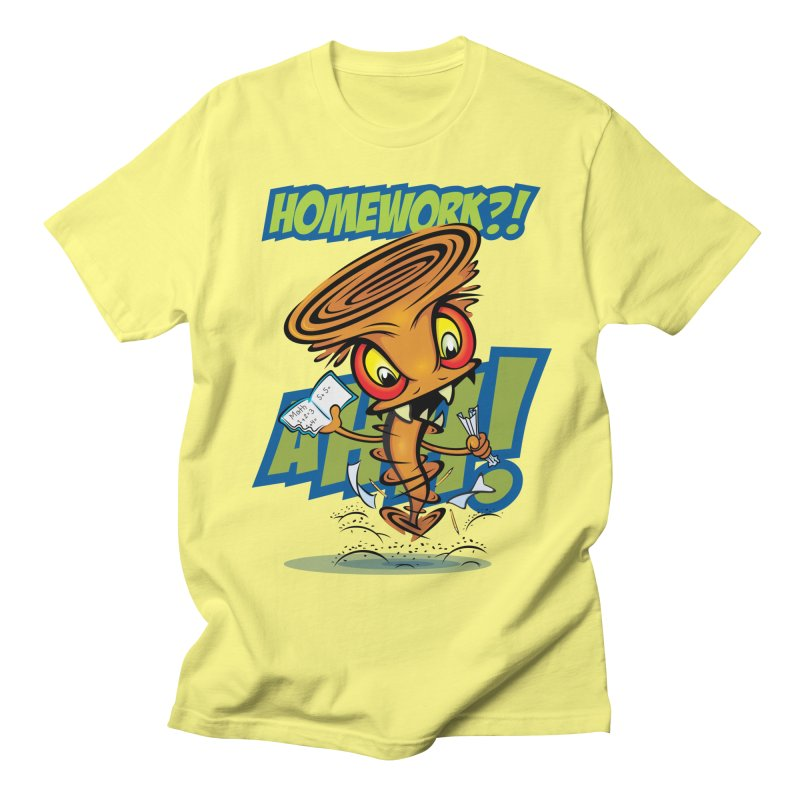 Homework Twister Men's Regular T-Shirt by Samalou - The Art and Illustrations of Lou Simeone