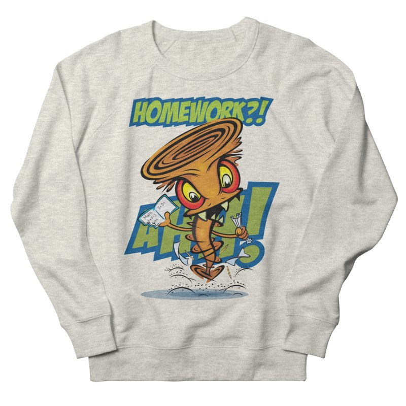 Homework Twister Women's Sweatshirt by Samalou - The Art and Illustrations of Lou Simeone