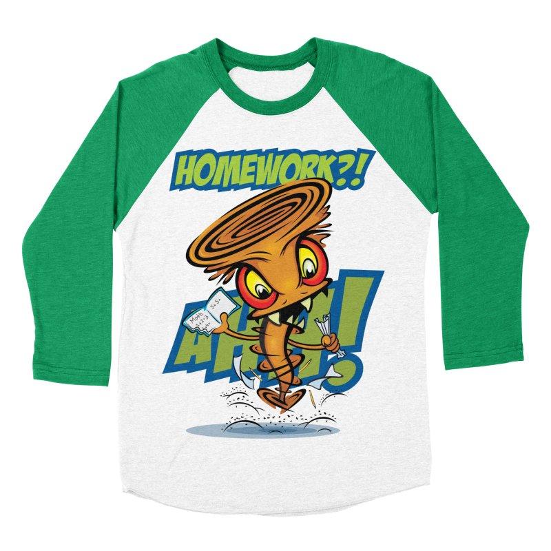 Homework Twister Women's Baseball Triblend T-Shirt by Samalou - The Art and Illustrations of Lou Simeone