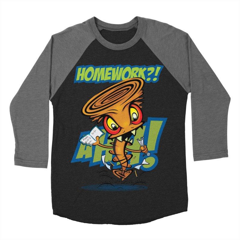 Homework Twister Women's Baseball Triblend Longsleeve T-Shirt by Samalou - The Art and Illustrations of Lou Simeone