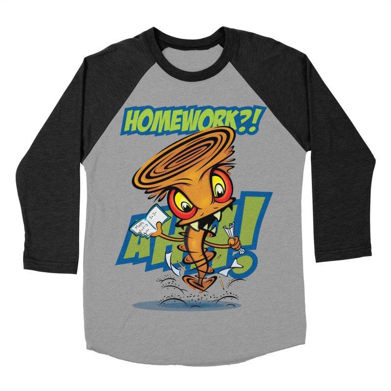 Homework Twister Men's Baseball Triblend T-Shirt by Samalou - The Art and Illustrations of Lou Simeone