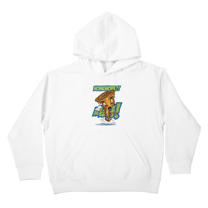 Homework Twister Kids Pullover Hoody by Samalou - The Art and Illustrations of Lou Simeone