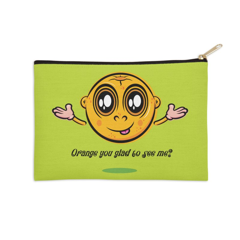 Orange you glad to see me? Accessories Zip Pouch by Lou Simeone Art
