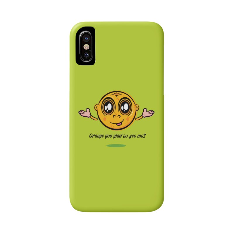 Orange you glad to see me? Accessories Phone Case by Samalou - The Art and Illustrations of Lou Simeone