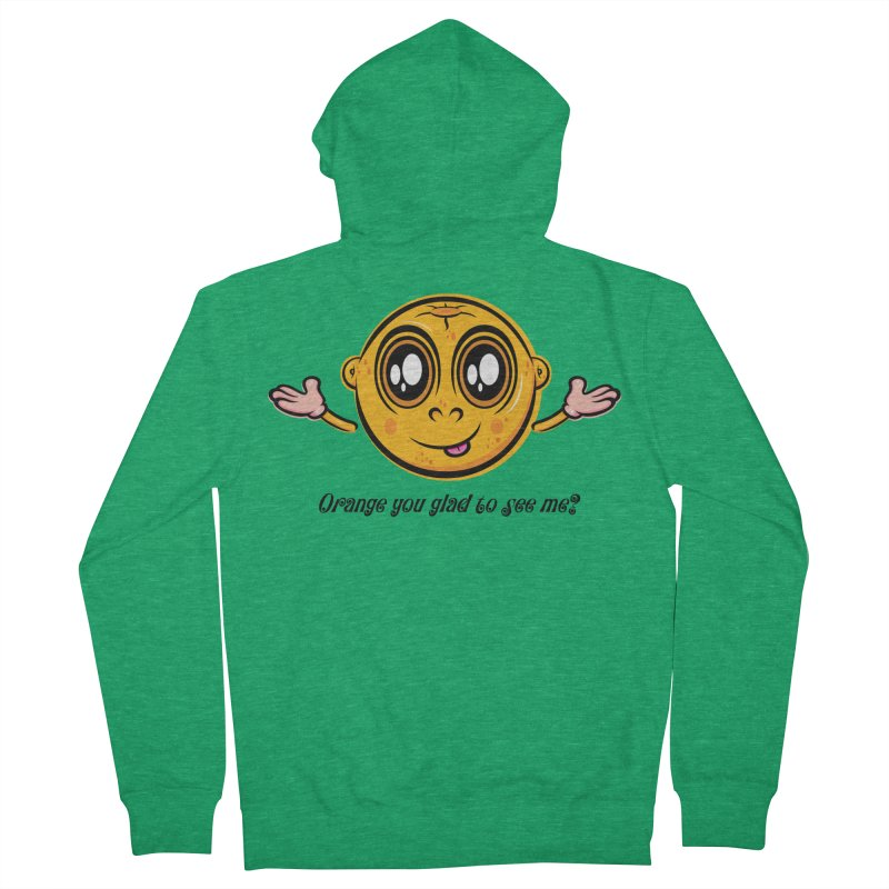 Orange you glad to see me? Men's Zip-Up Hoody by Samalou - The Art and Illustrations of Lou Simeone