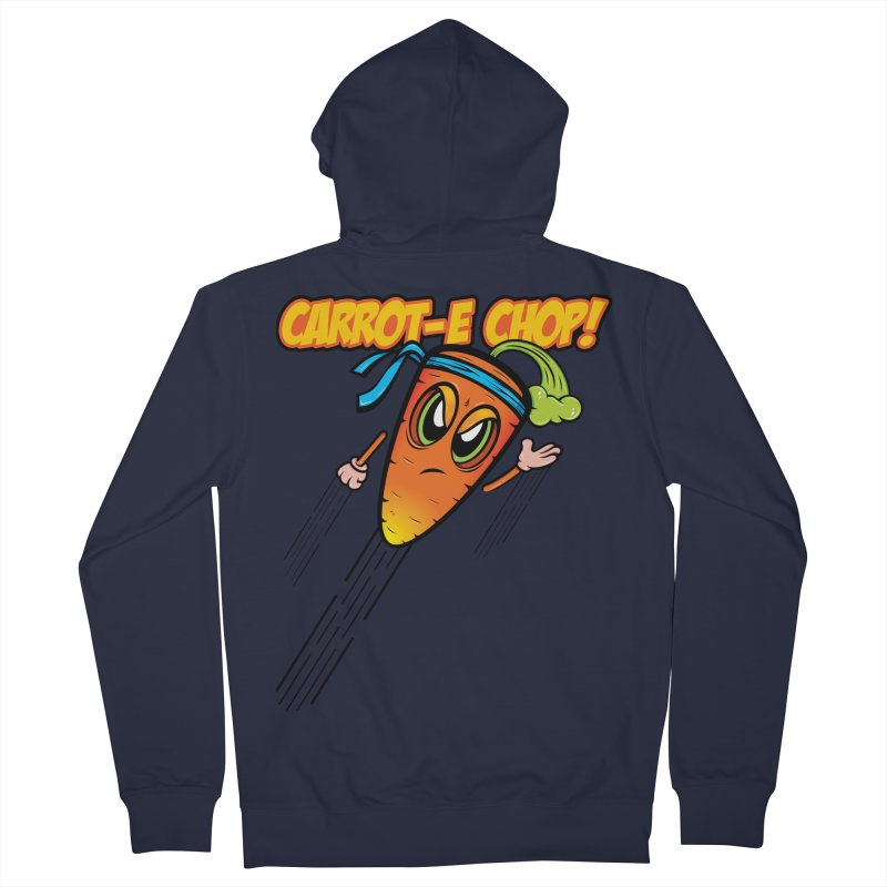 Carrot-e-CHOP! Women's French Terry Zip-Up Hoody by Lou Simeone Art