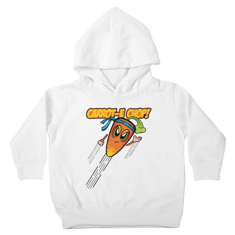 Carrot-e-CHOP! Kids Toddler Pullover Hoody by Lou Simeone Art