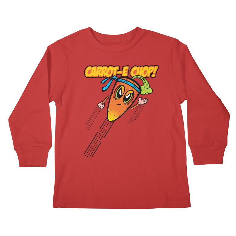 Carrot-e-CHOP! Kids Longsleeve T-Shirt by Samalou - The Art and Illustrations of Lou Simeone