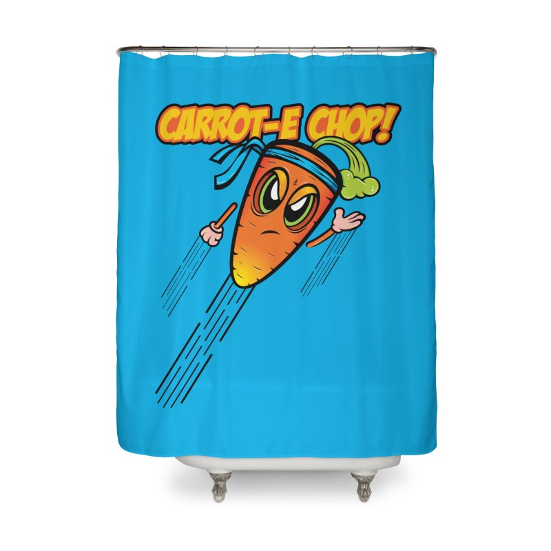 Carrot-e-CHOP! Home Shower Curtain by Samalou - The Art and Illustrations of Lou Simeone
