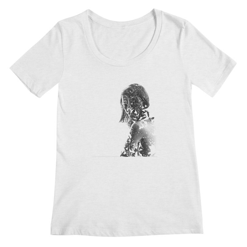 Exclusion II Women's Scoopneck by samanthafortenberry's Artist Shop
