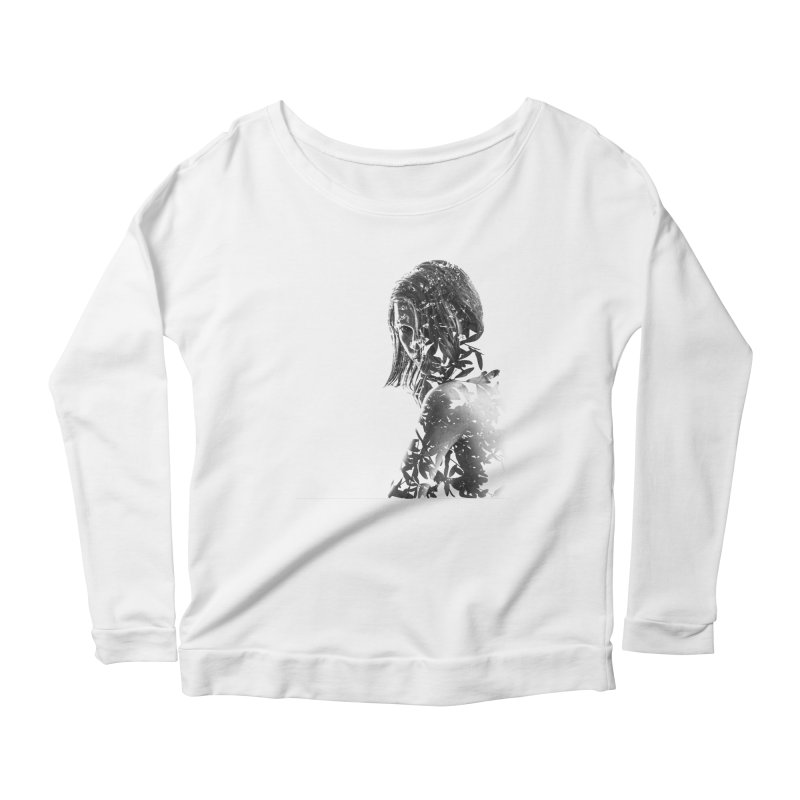 Exclusion II Women's Longsleeve Scoopneck  by samanthafortenberry's Artist Shop