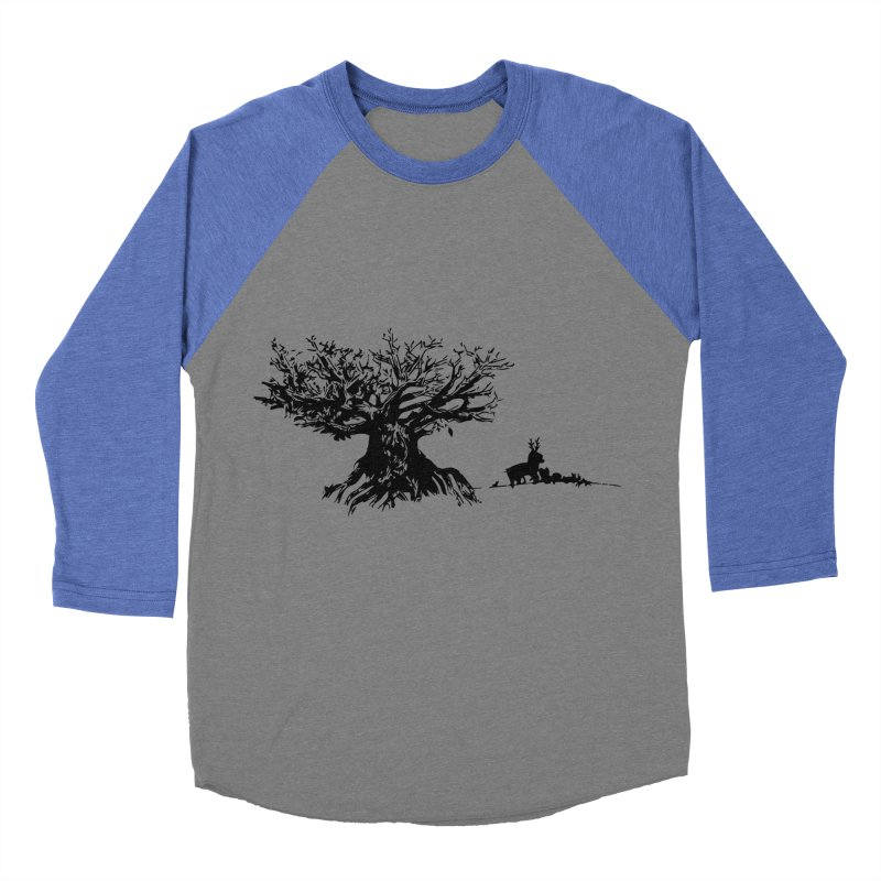 Out Of The Woods Men's Baseball Triblend T-Shirt by samanthalilley's Artist Shop