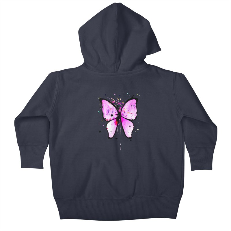 Fly Away Kids Baby Zip-Up Hoody by samanthalilley's Artist Shop
