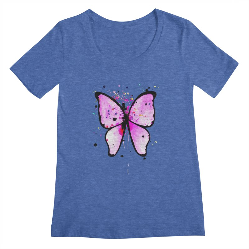 Fly Away Women's Scoopneck by samanthalilley's Artist Shop