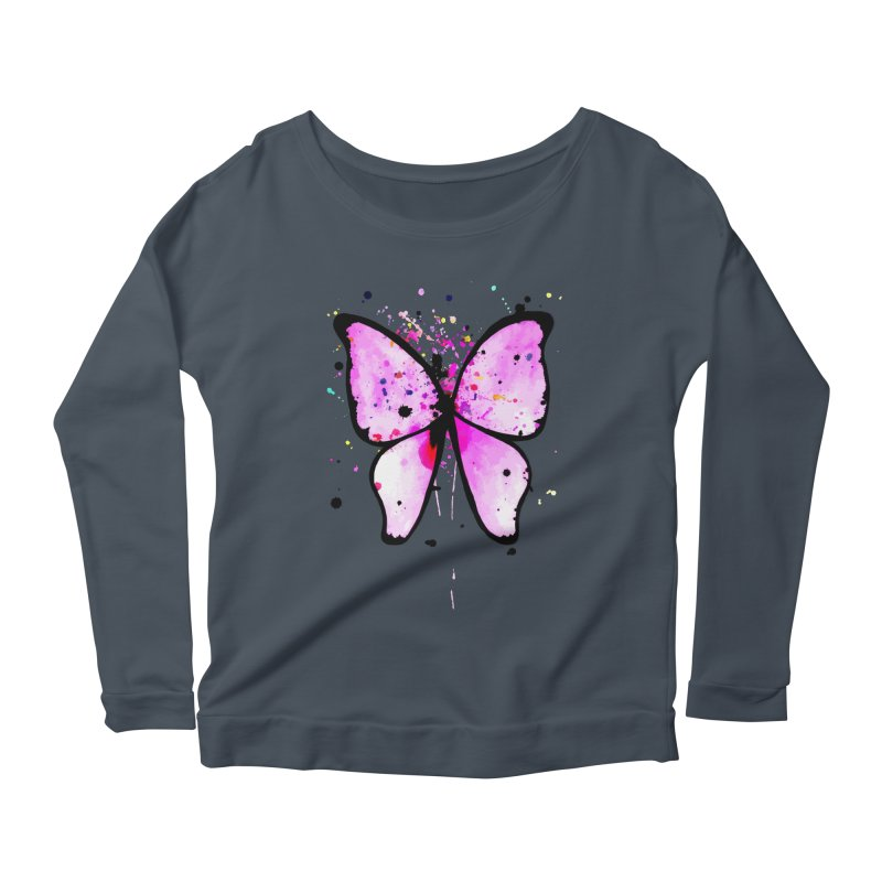 Fly Away Women's Longsleeve Scoopneck  by samanthalilley's Artist Shop