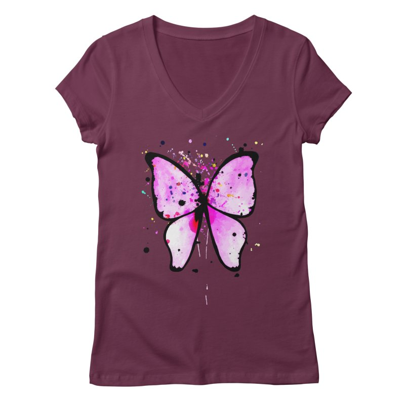 Fly Away Women's V-Neck by samanthalilley's Artist Shop