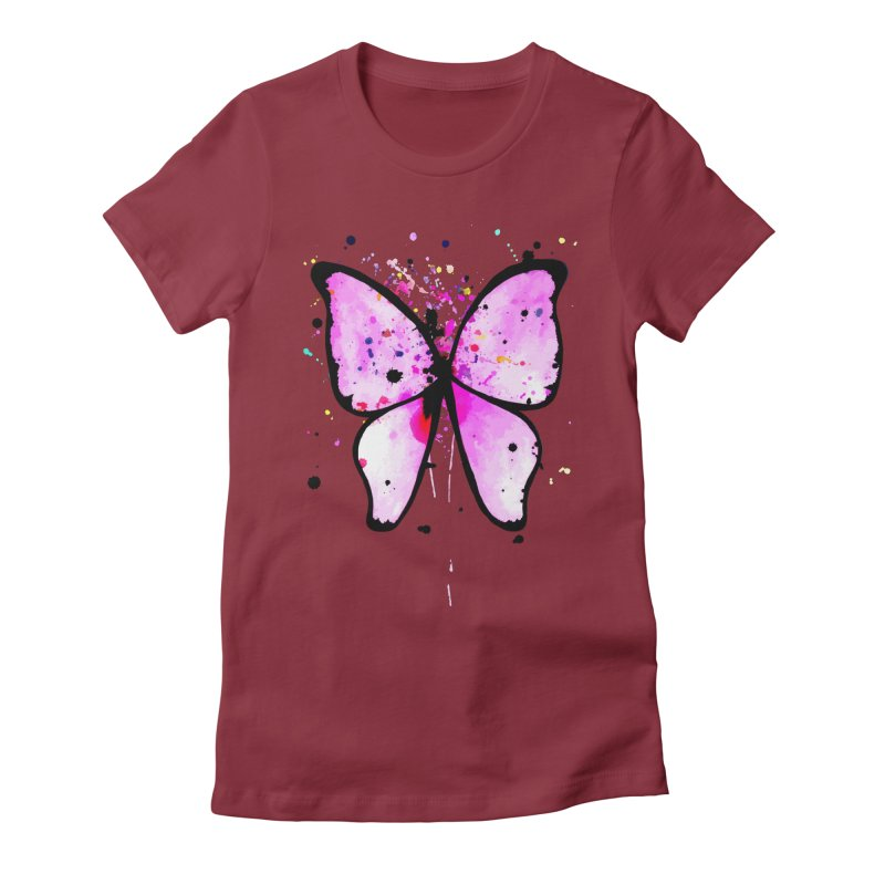 Fly Away Women's Fitted T-Shirt by samanthalilley's Artist Shop