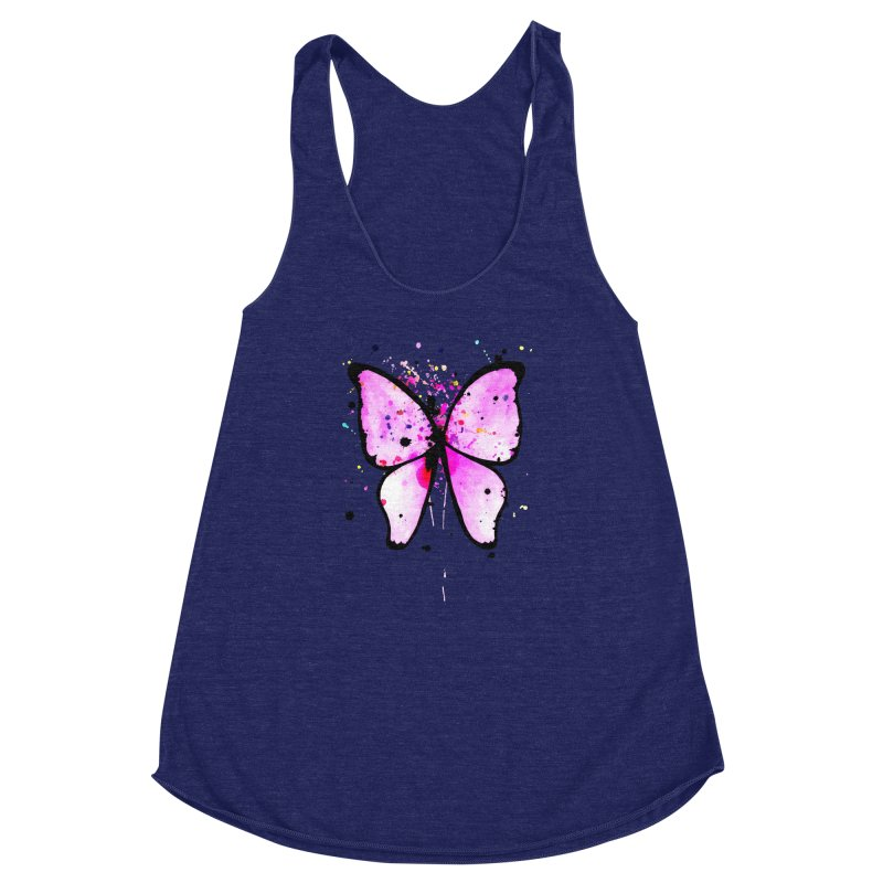 Fly Away Women's Racerback Triblend Tank by samanthalilley's Artist Shop