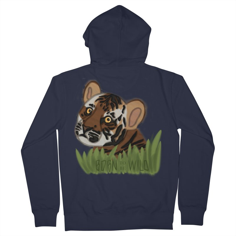 Born To Be Wild Men's Zip-Up Hoody by samanthalilley's Artist Shop