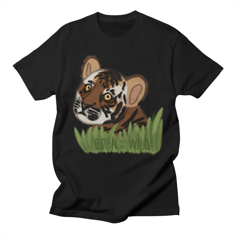 Born To Be Wild Men's T-Shirt by samanthalilley's Artist Shop
