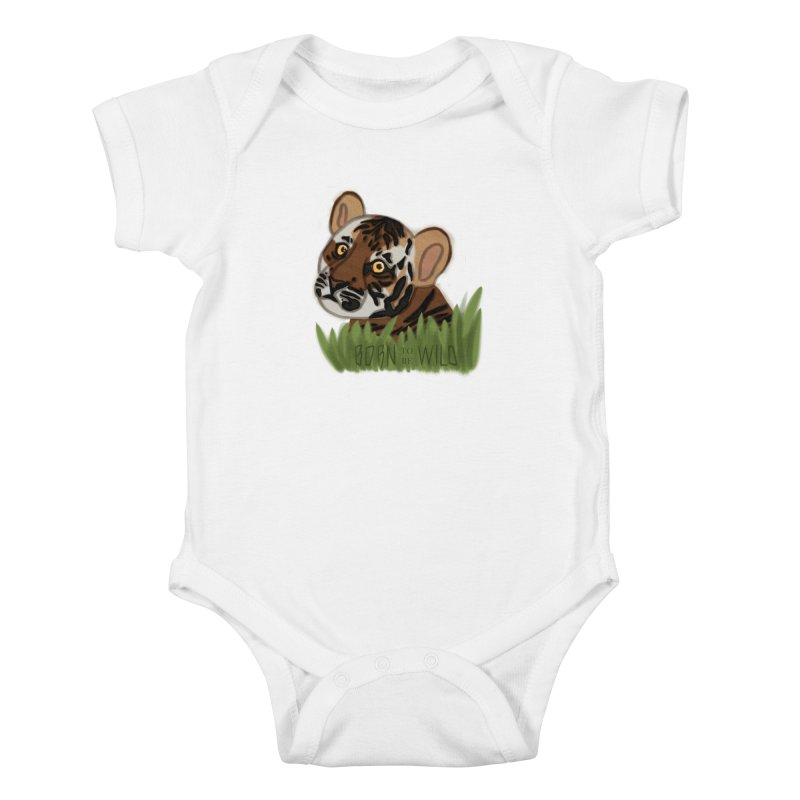 Born To Be Wild Kids Baby Bodysuit by samanthalilley's Artist Shop