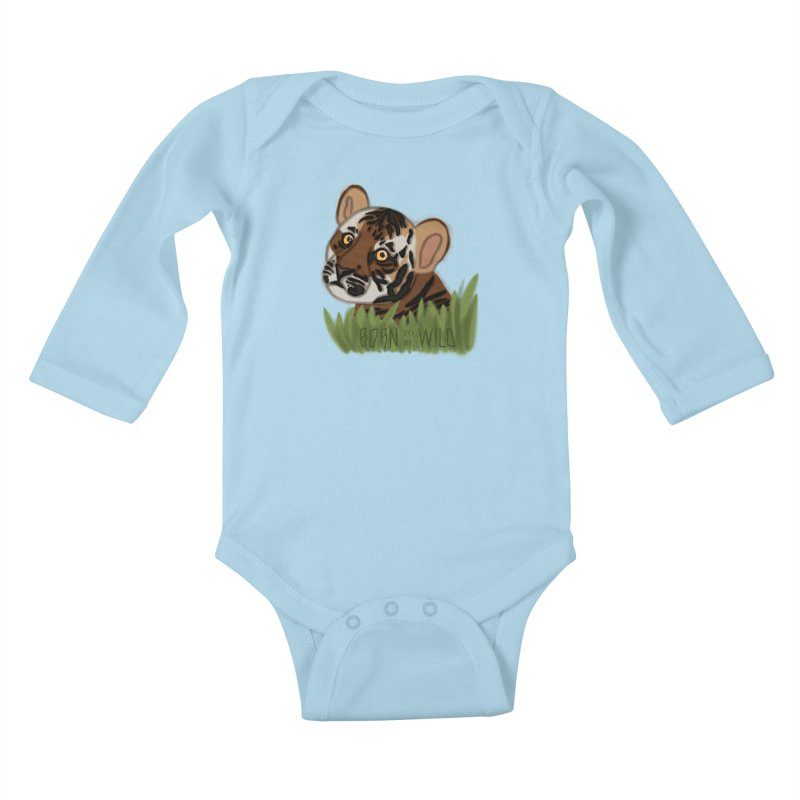 Born To Be Wild Kids Baby Longsleeve Bodysuit by samanthalilley's Artist Shop