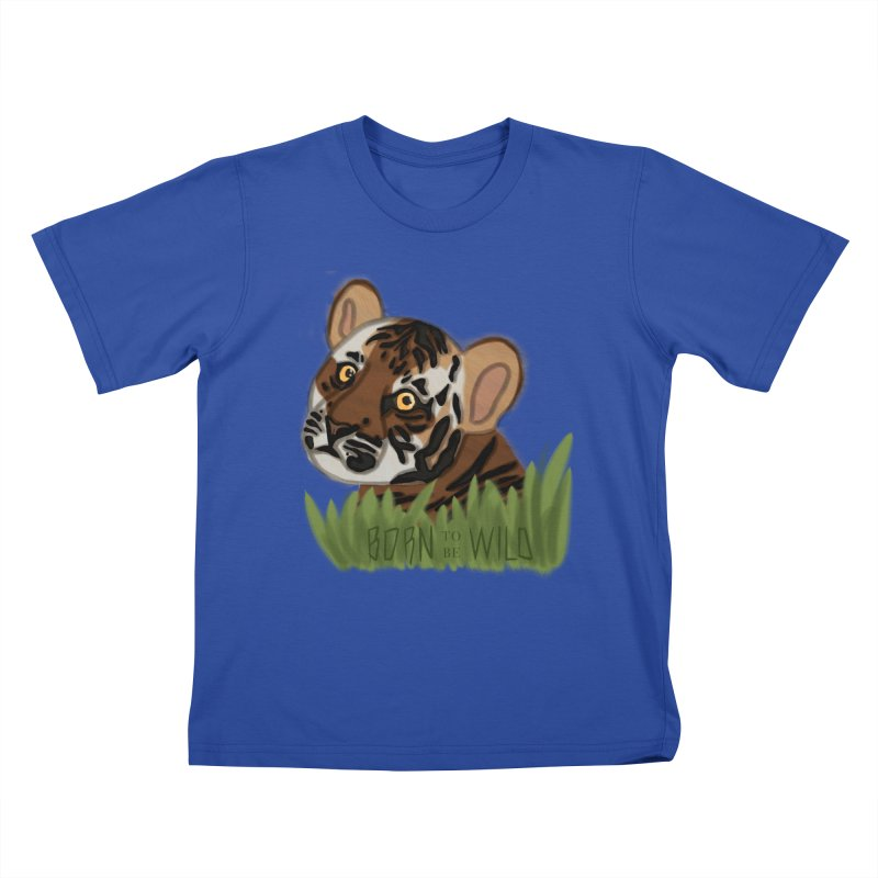 Born To Be Wild Kids T-shirt by samanthalilley's Artist Shop