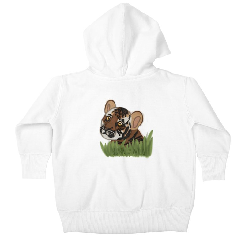 Born To Be Wild Kids Baby Zip-Up Hoody by samanthalilley's Artist Shop