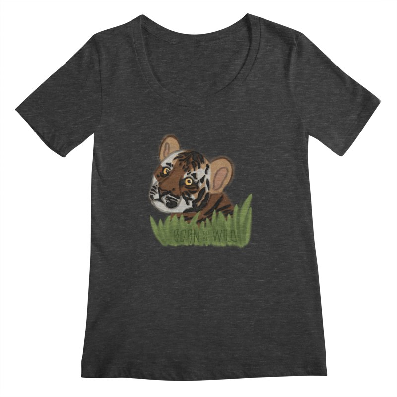 Born To Be Wild Women's Scoopneck by samanthalilley's Artist Shop