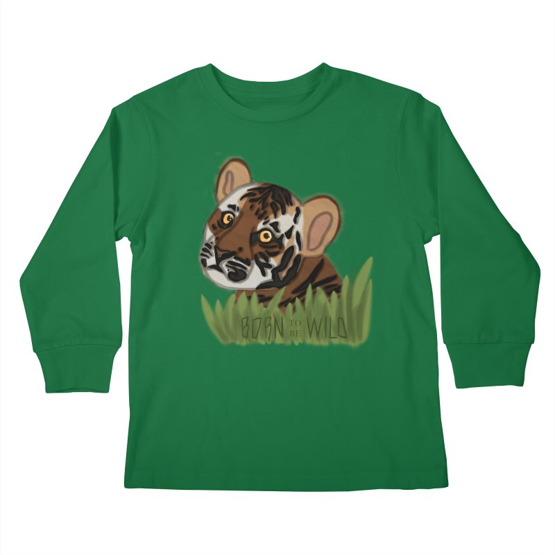Born To Be Wild Kids Longsleeve T-Shirt by samanthalilley's Artist Shop