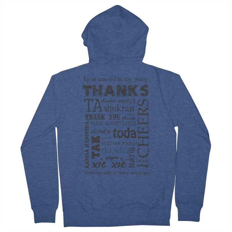 Many Thanks Women's Zip-Up Hoody by samanthalilley's Artist Shop