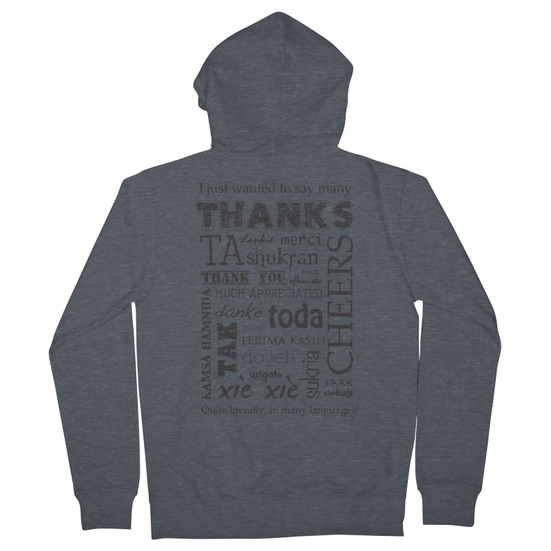 Many Thanks Men's Zip-Up Hoody by samanthalilley's Artist Shop