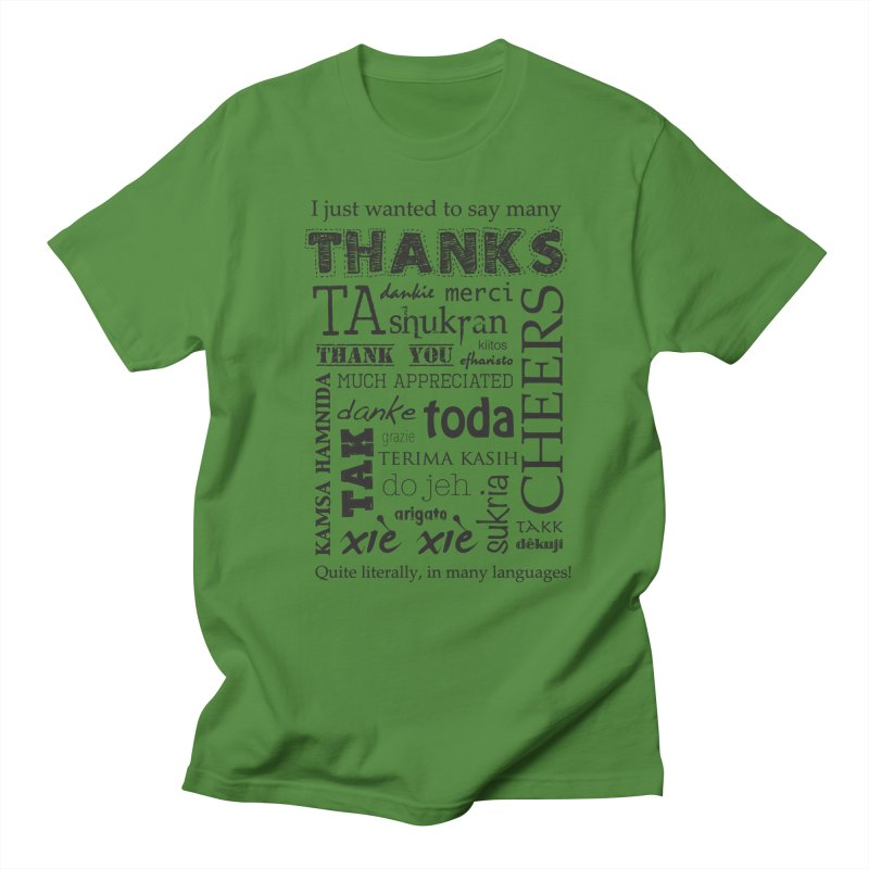 Many Thanks Men's T-Shirt by samanthalilley's Artist Shop