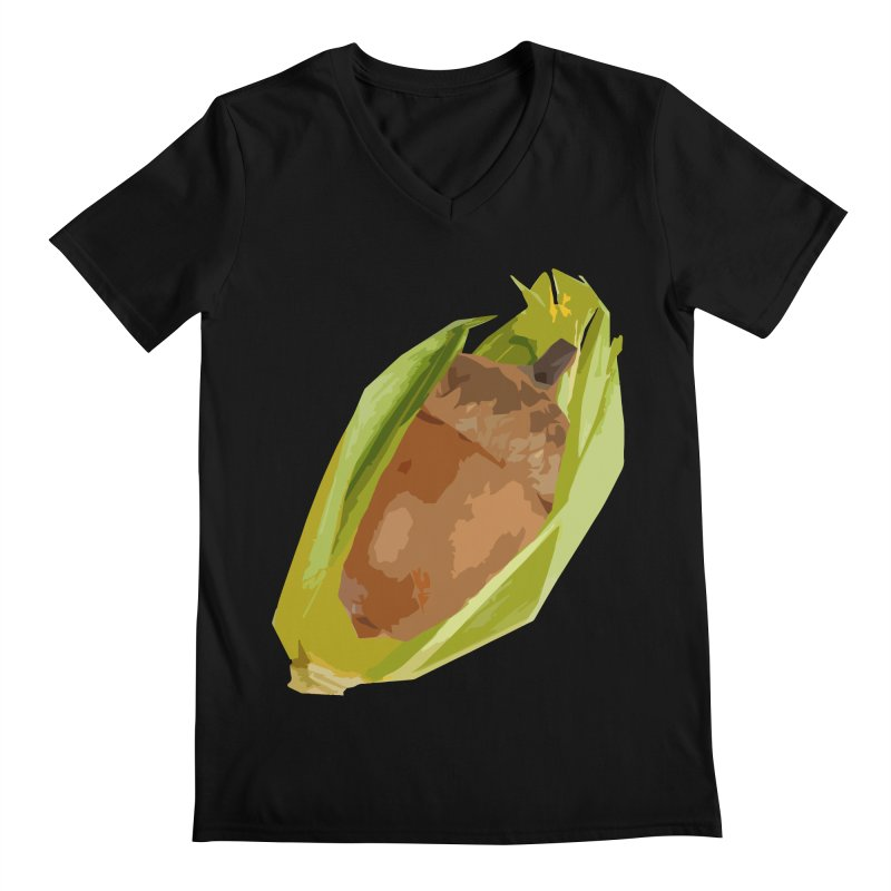 A-CORN? Men's V-Neck by samanthalilley's Artist Shop