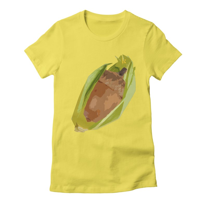 A-CORN? Women's Fitted T-Shirt by samanthalilley's Artist Shop