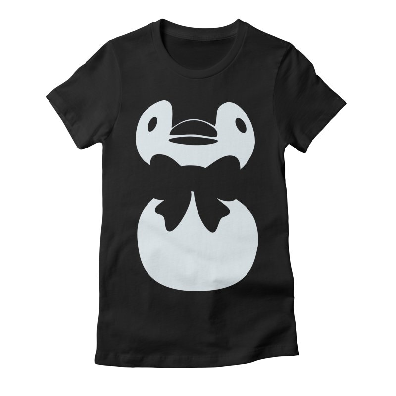 Big Penguin Women's Fitted T-Shirt by samanthalilley's Artist Shop