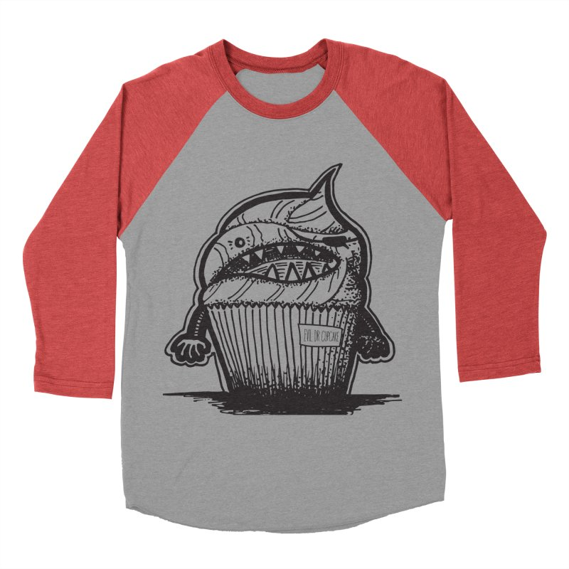 Evil Dr Cupcake Women's Baseball Triblend T-Shirt by samanthalilley's Artist Shop