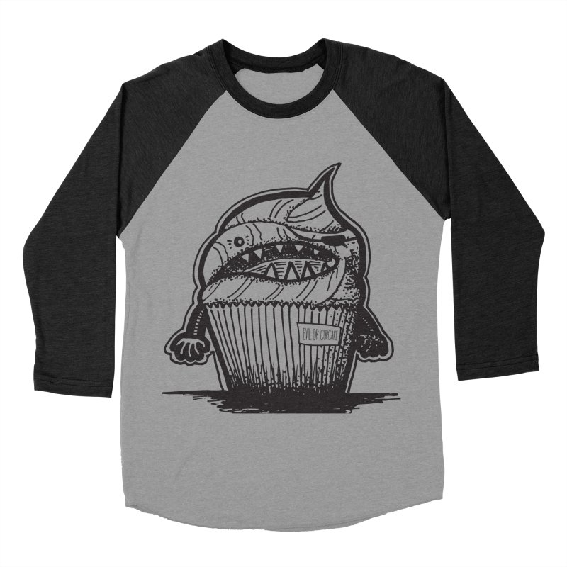 Evil Dr Cupcake Men's Baseball Triblend T-Shirt by samanthalilley's Artist Shop