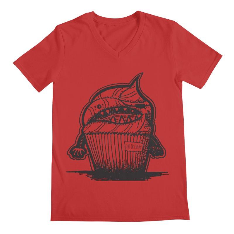 Evil Dr Cupcake Men's V-Neck by samanthalilley's Artist Shop