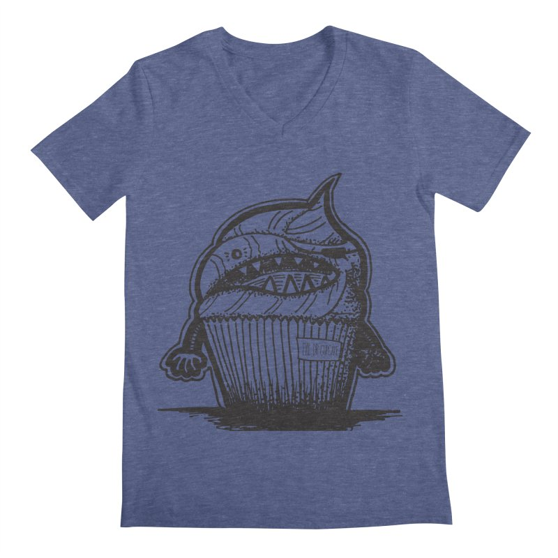 Evil Dr Cupcake Men's V-Neck by samanthalilley's Artist Shop