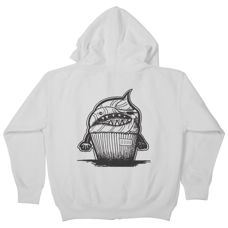 Evil Dr Cupcake Kids Zip-Up Hoody by samanthalilley's Artist Shop