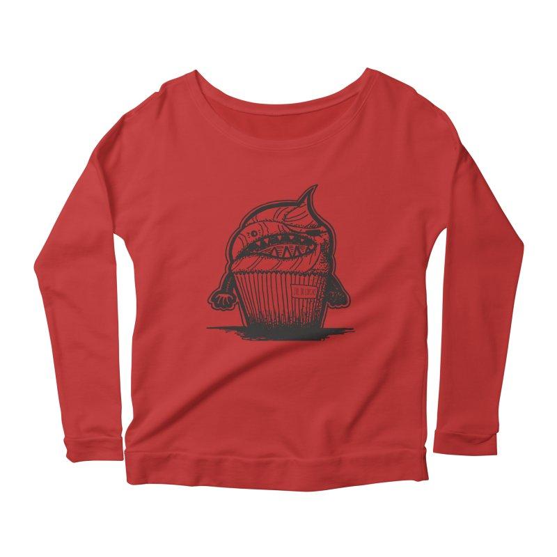 Evil Dr Cupcake Women's Longsleeve Scoopneck  by samanthalilley's Artist Shop