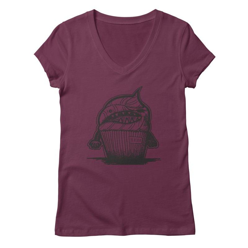 Evil Dr Cupcake Women's V-Neck by samanthalilley's Artist Shop