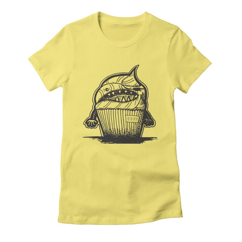 Evil Dr Cupcake Women's Fitted T-Shirt by samanthalilley's Artist Shop