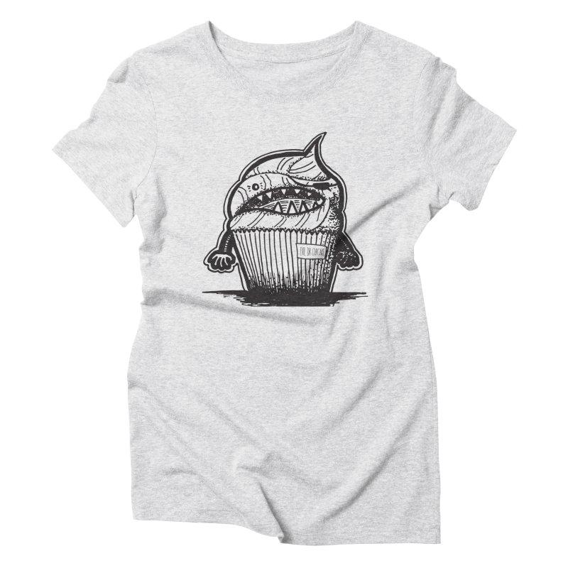 Evil Dr Cupcake Women's Triblend T-Shirt by samanthalilley's Artist Shop
