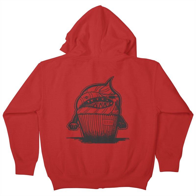 Evil Dr Cupcake Kids Zip-Up Hoody by samanthalilley's Artist Shop