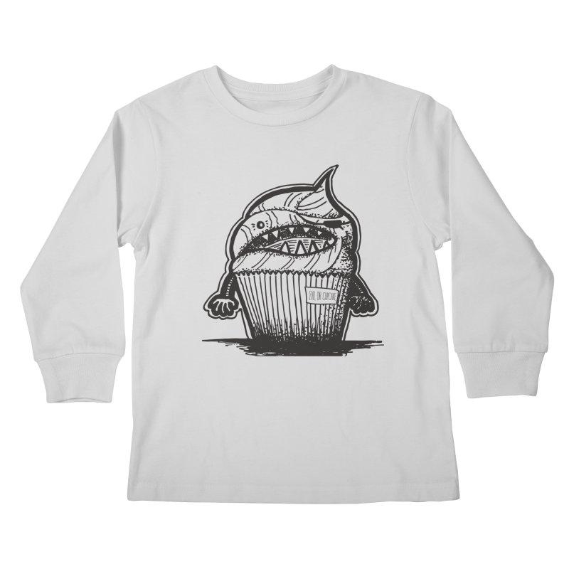 Evil Dr Cupcake Kids Longsleeve T-Shirt by samanthalilley's Artist Shop